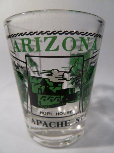 Arizona Scenery Green Shot Glass