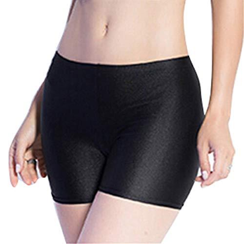 Women Safety Pants Boy Shorts Stretch Short Pants Yoga Shorts Leggings Short Panty Boxer Briefs (Free Size, Black)