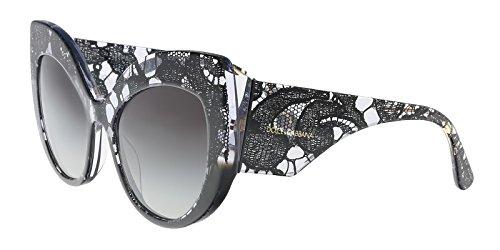Dolce & Gabbana DG4321 31528G Black Gradient Cat Eye Sunglasses for ()