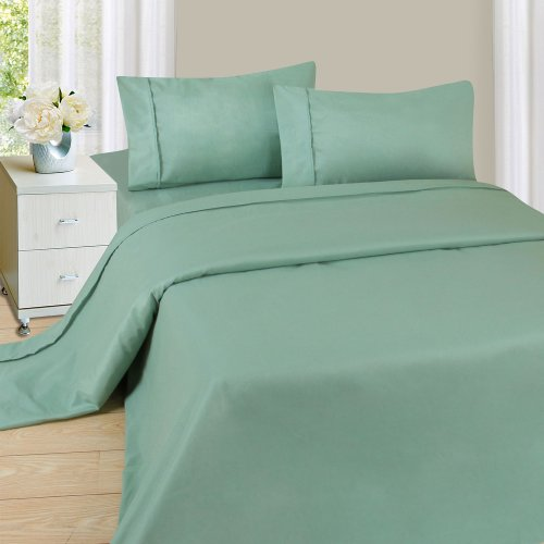 Lavish Home 1200 3-Piece Sheet Set, Twin, Sage