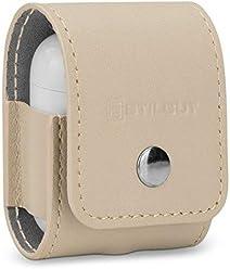 StilGut Custodia Apple AirPods in Vera Pelle. Elegante Case in Pelle Pregiata per AirPod Case, Crema Nappa
