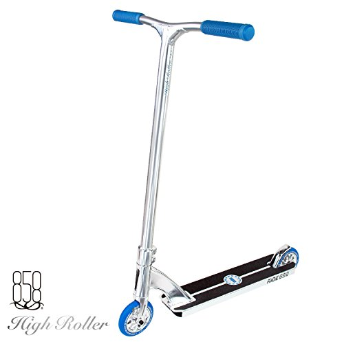 Ride 858 High Roller Compete Scooter ( CHROME/BLUE)