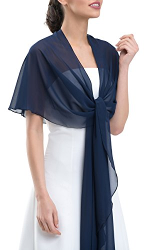 ening Circular Stole Shawl Wrap - Special Circular Shape Prevents Sliding Off - Perfect for Wedding Dress or Evening Prom Dress Ball Gown - NAVY BLUE (Evening Gown Prom Ball Dress)