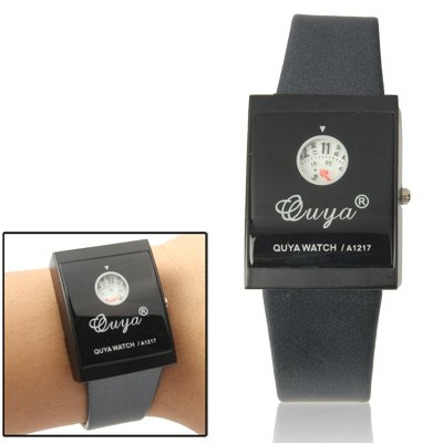 Stylish Quartz Wrist Watch +Synthetic Leather Strap Watch (Black + White) Premium Quality (Color : Color1) by GuiPing