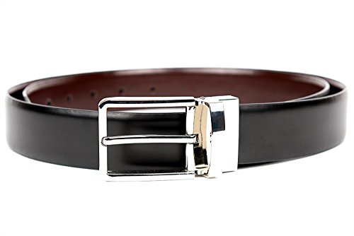 Vetelli Men's Leather Reversible Dress Belt Black/Brown (30)