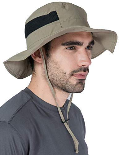 (Boonie Sun Hat for Men & Women - Summer Cap with UV Protection - UPF 50 Outdoor Bucket Hat for Fishing, Beach, Hiking, Safari, Camping, Gardening & Boating - Skin Cancer Foundation Recommended)