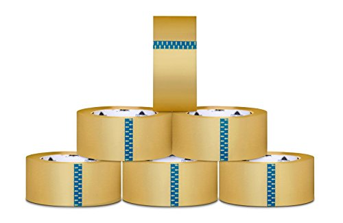 Carton Sealing Packaging Tape - 2'' Width x 110 Yd Length - 1.75 Mil - 216 Rolls - Clear by Shield