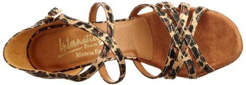 International Dance Shoes Danza jazz donna Oro (Leopard)