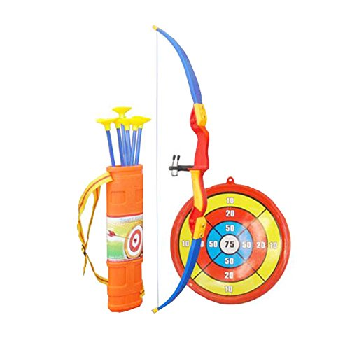 Juego de tiro con arco y flecha para niños Kids Archery con juego divertido para jardín al aire libre Target, A1