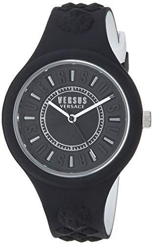 Versus by Versace Women s  FIRE Island Bicolor  Quartz Stainless Steel and  Silicone Watch, d290147183f