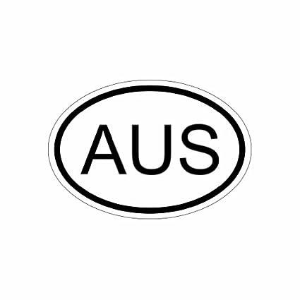 Amazon com: AUS Australia Country Code Oval - Color Sticker