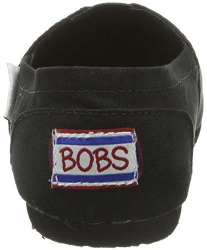 Mujer 37753 de lona Zapatos BLK Negro Skechers wPxFnqAOqT