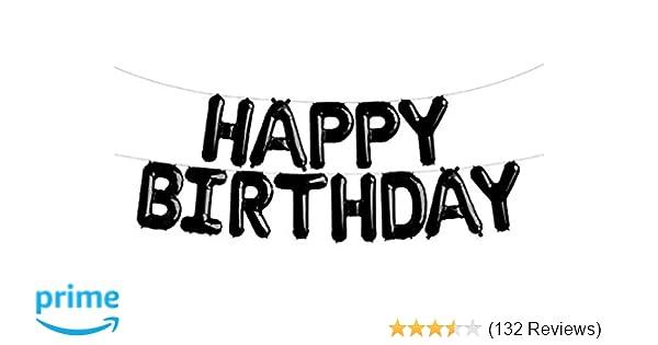 Amazon SGODA Happy Birthday Foil Letter Balloons Black Toys Games