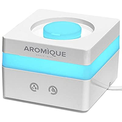 AROMIQUE Essential Oil Diffuser 120ml Cool Mist Aroma Humidifier Aromatherapy eBooks included with Adjustable Mist and 7 Magic Led Lights Auto Shut-off for Home Office Baby Room
