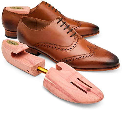 STRATTON CEDAR SHOE TREE 2-PACK FOR MEN (for 2 pairs of shoes) – GROWN IN USA