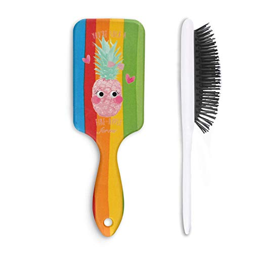 Unisex Detangle Hair Brush pineapple you're such a fine-apple for me Boar Bristle Paddle Hairbrush for Wet, Dry, Thick, Thin,Curly hair