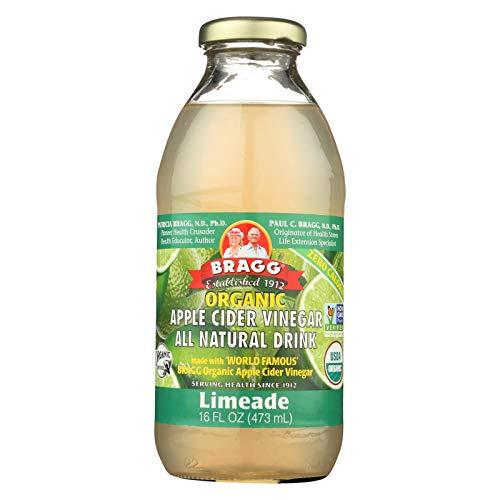 Bragg Organic Apple Cider Vinegar Limeade, 16 Ounce - 12 Per ()