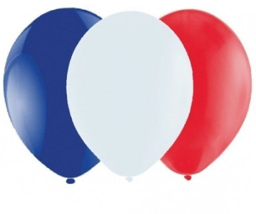 50 x Red, 50 x White, 50 x Mid Blue Belbal Balloons 10 Multipack / Party / Occassions / Events by Belbal by Belbal