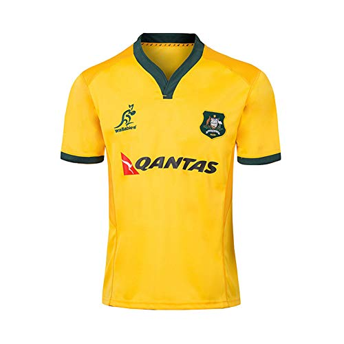 DXJJ 2019 Australia Home Field Rugby Jersey Suit Commemorative Edition Football Clothing Casual Sports T-Shirt,A,L