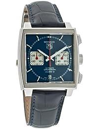 Mens CAW2111.FC6183 Monaco Calibre 12 Automatic Chronograph Blue Alligator Strap Watch
