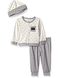 Calvin Klein Conjunto de 2 Piezas de cárdigan con Sombrero para bebé