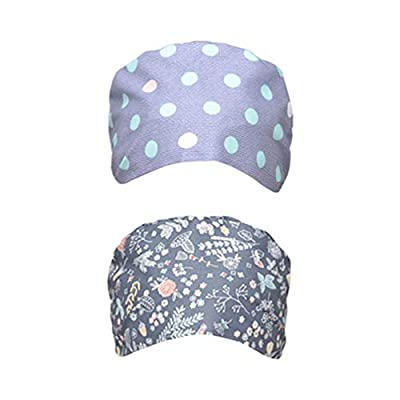 TENDYCOCO Cotton Unisex Surgical Cap Medical Doctor Nurse Hat Adjustable Printing Surgery Hat Laboratory Working Caps 2Pcs: Clothing