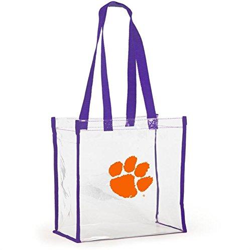 Desden Open Stadium Tote Clear Utility Bag for School, Shopping, Work - Clemson by Desden