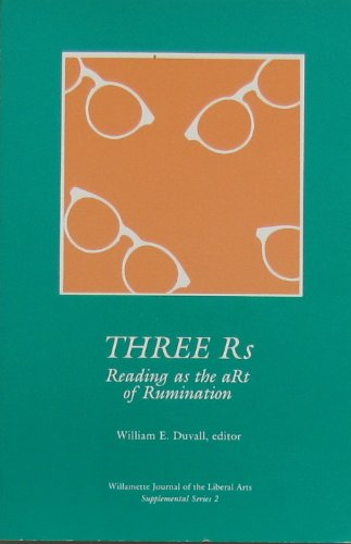 Three Rs - Reading as the aRt of Rumination