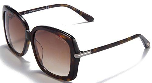 TOM FORD TF9323-52F Female Fashion Full-Rim Sunglasses, Tortoise Frame / Light Brown Lens - Adizero Sunglasses