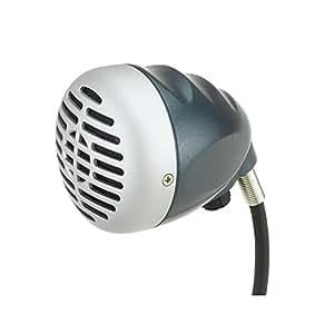 Micrófono Superlux D112/C con diseño dinámico cardioide para armónica, con control de nivelintegrado y perfecto para grabación de estudio; diseño ergonómico para adaptarse perfectamente a la mano