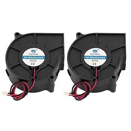 Amazon.com: DealMux DC12V 75x75x30mm Turbo Blower refrigerador refrigerar Fan 2pcs para PC Caso: Electronics