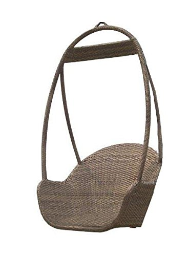 Panama Jack Outdoor Island Cove Woven Hanging Chair - Extruded Aluminum Frame that will not rust w/Viro Fiber Weave Weather and UV resistant Beautiful Design - patio-furniture, patio-chairs, patio - 41ltwovNpSL -