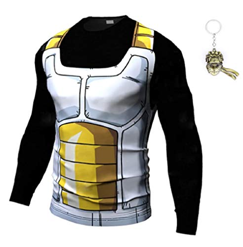 JarilnMo Men DBZ Goku Compression Workout Armor Long