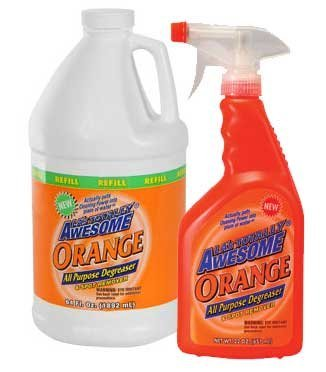 Awesome Orange 22 Oz All Purpose Degreaser & Spot Remover with Awesome Orange 64 Oz. Refill (Las Totally Awesome Orange All Purpose Degreaser)