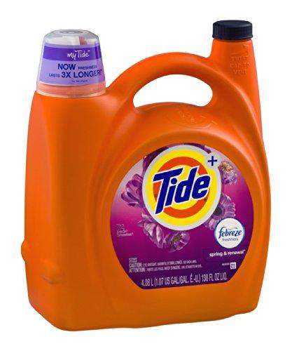 Tide + Febreze Freshness Laundry Detergent Spring & Renewal 138 OZ (Pack of 4) by Tide