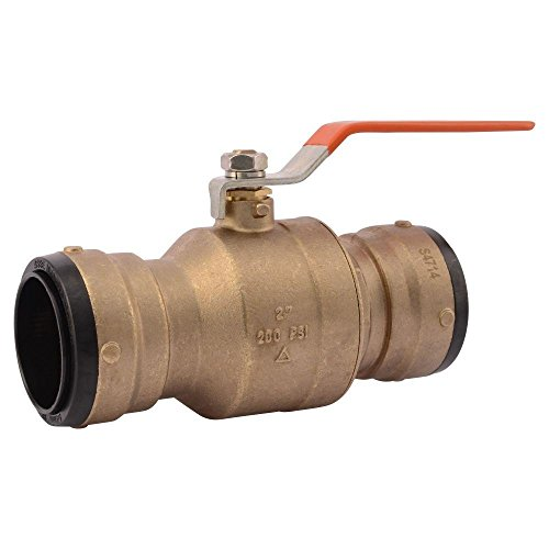 l Valve 2 Inch, Large Diameter, Water Valve Shut Off, Push-to-Connect, PEX, Copper, CPVC, PE-RT ()
