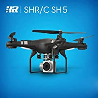 Childrens Christmas/Birthday Gift, Leewa SH5H 120 Wide Angle Lens 2MP HD Camera Quadcopter RC Drone WiFi FPV Live Helicopter Hover (Black)