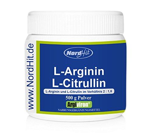 NordHit L-Arginin + L-Citrullin 2 : 1,6 - 500 g Pulver