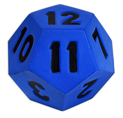 Learning Advantage Jumbo Polyhedra Die - 12 Sides - Large, Foam Dice for Games - Teach Numbers, Probability, Addition and Subtraction