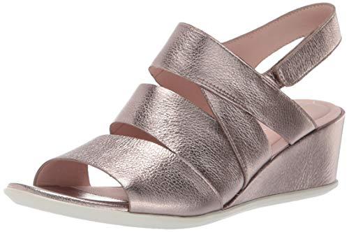 ECCO Women's Women's Shape 35 Wedge Sandal, Stone Metallic 39 M EU (8-8.5 US) (Shape Women)