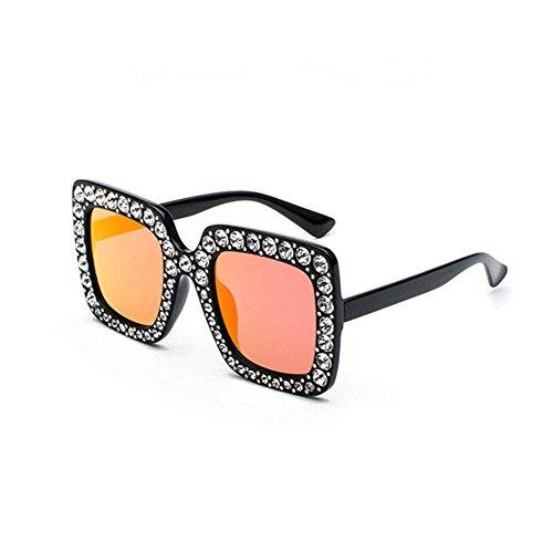 Aoligei Grosse boîte carrée classique toutes les lunettes de soleil de  diamant montrent visage lunettes mode Europe et le ventilateur ÉtatsUnis  réseau Red W ... e8930a9c6036
