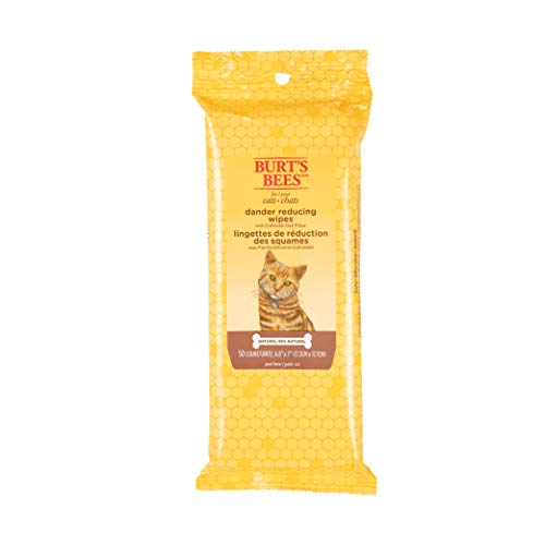 Burt's Bees For Cats Natural Dander Reducing Wipes | Kitten and Cat Wipes For Grooming | Cruelty Free, Sulfate & Paraben…