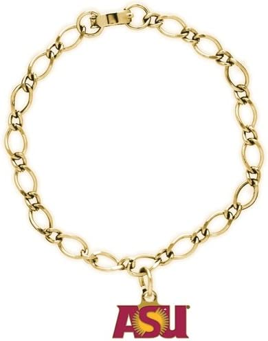 WinCraft NCAA Arizona State University 58954081 Bracelet with Charms Clamshell