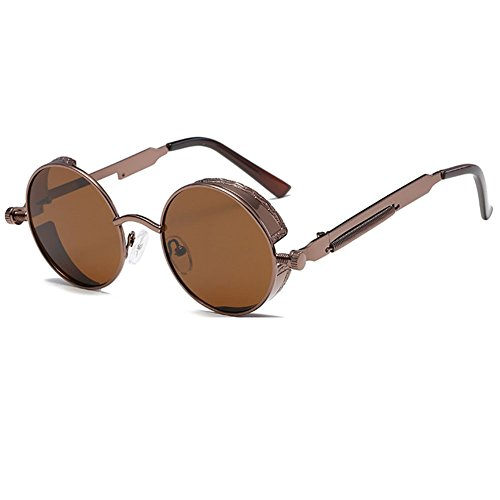 de soleil Brown Vintage Lunettes Retro Punk Juleya Brown Rock nPgTWqXCC