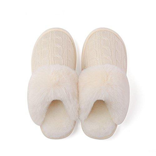 Feuillet Chaussures les DWW Antidérapant Hiver Coton Pantoufles Chaussons Pattern Intérieur Maison Épais 2 Femmes Amateurs de OT5dxqv