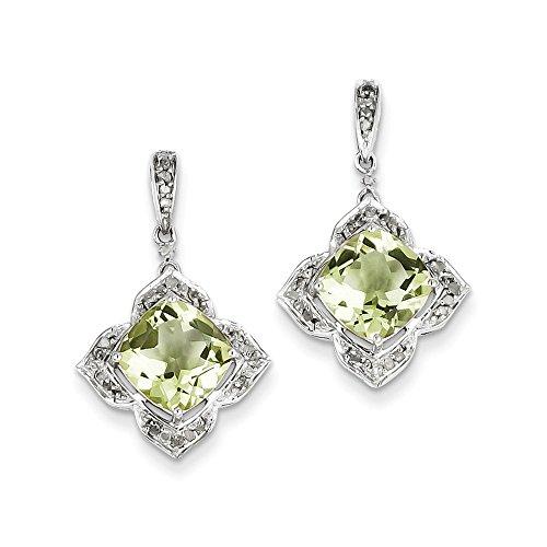 Top 10 Jewelry Gift Sterling Silver Diamond & Lemon Quartz Earrings