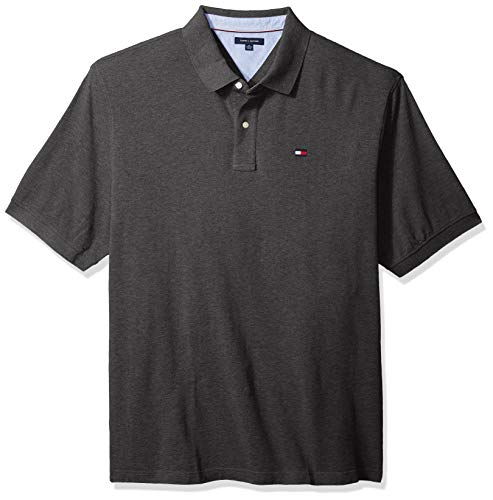 Tommy Hilfiger Men's Big and Tall Polo Shirt Ivy, Med Gry Heather, BG-3XL (Men For Tommy Polo)