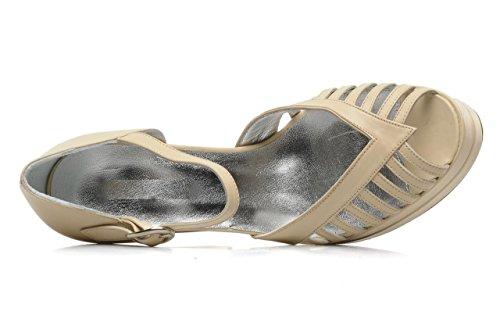 11sunshop Scarpa In Pelle Modello Di Piattaforma Violen Del Design Hgilliane In Crema 33-44