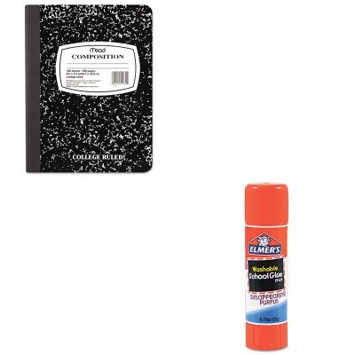 KITEPIE524MEA09910 - Value Kit - Elmer's Washable School Glue Stick (EPIE524) and Mead Black Marble Composition Book (MEA09910)