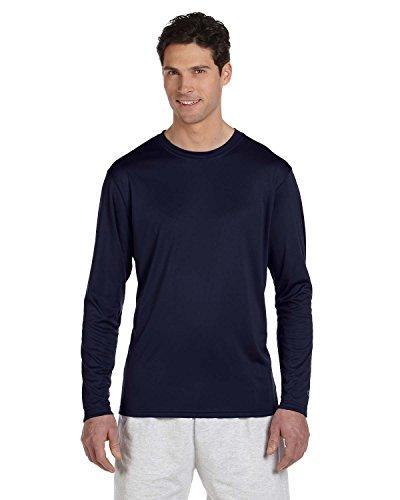 Champion CW26 Adult Double Dry Long-Sleeve Interlock T-Shirt - Navy44; Extra Large ()